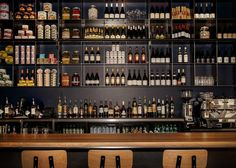 An array of #greek foodstuffs behind the bar at Shed 5 #swpromenade #melbourne