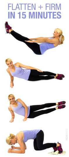 Check out how to tone that tummy in just 15 minutes!
