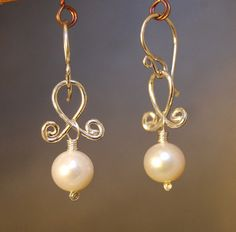 Cosmopolitan 86 Dainty Ivory Pearl Earrings by CalicoJunoJewelry, $30.00