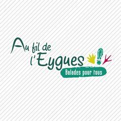 Au Fil de l'Eygues. Communauté de communes du Val d'Eygues. Identité visuelle.  www.cc-valdeygues.fr/visiteurs/activites-en-pleine-nature/au-fil-leygues/