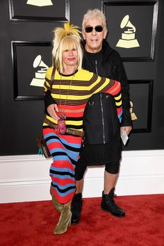The Grammy Awards are known for daring fashion, with this year's arrivals no exception. Check out all the looks from the red carpet, live from the Staples Center in Los Angeles. Betsey Johnson, Grammys 2017, Grammy Outfits, Best Dressed Man, Red Carpet Looks, Celebs, Celebrities, Colorful Fashion, Men Dress