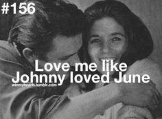 I want a love like Johnny  June