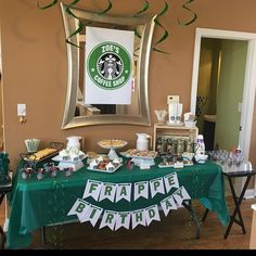 Rebecca Payton added a photo of their purchase Starbucks Birthday Party, Birthday Coffee, 13th Birthday Parties, 12th Birthday, Birthday Ideas, Birthday Cakes, Party Printables, Printable Banner, Frappe