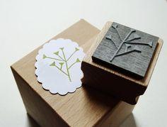 """Pflanzen - Stempel """"Täschelkraut"""" - ein Designerstück von schnellgemacht bei DaWanda"""