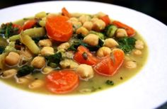 Hearty Chickpea Soup. I love soup..... #UltimateReset