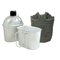 Fury GI Style Aluminum Canteen with Cup and Cover 1 Quart >>> You can find out more details at the link of the image.