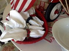 The Style Sisters: Red White and Blue Tablescape- Centerpiece Wednesday