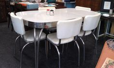 1950s Dinette Set $450 - Chicago http://furnishly.com/catalog/product/view/id/4886/s/1950s-dinette-set/