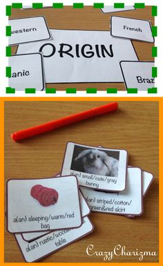 Ordering Adjectives Cards. The packet consists of 170 cards to practice Order of Adjectives. It can be used with ESL / EFL students. It can also be used with grades 4-6 during ELA lessons (L.4.1.d). $ #crazycharizma