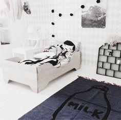 Monochrome kids rooms