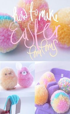 Bibelot Magazine: Learn how to make Easter Egg pom-poms with Frilly Pops