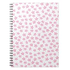 Pretty Pink Watercolor Flower Notepad Notebook - flowers floral flower design unique style