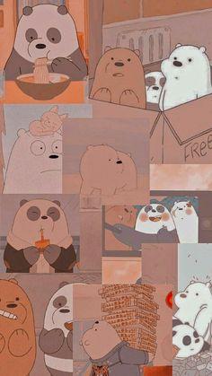 Cute Panda Wallpaper, Cute Tumblr Wallpaper, Dark Wallpaper Iphone, Cute Pastel Wallpaper, Cartoon Wallpaper Iphone, Iphone Wallpaper Tumblr Aesthetic, Cute Patterns Wallpaper, Bear Wallpaper, Cute Disney Wallpaper