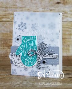 Smitten Mittens, Merry Little Christmas & Merry Music dsp, Vellum, Winter Wonder embossing folder - all from Stampin' Up!