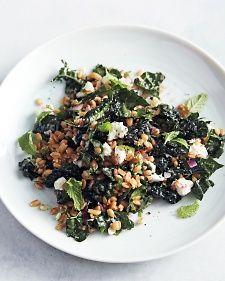 Kale and Farro Salad with Feta