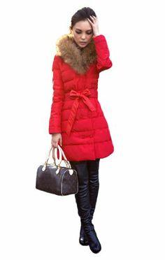 Queenshiny Women's Down Coat Jacket with Huge Hood and 100 ...