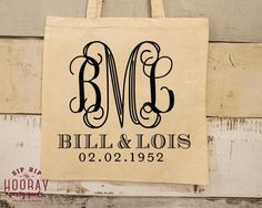 Wedding Monogram Guest Tote Monogrammed Totes Favor Bags Welcome Bag Canvas Bag Tote Canvas Totes Custom Tote Party Favor Bag 1683 by SipHipHooray