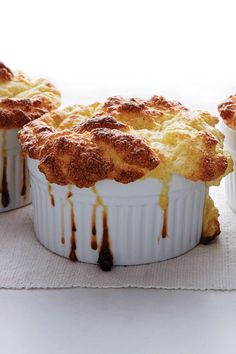 Adding puréed cauliflower to an appetizer-sized soufflé gives the dish the heartiness to be a vegetarian main when served with a salad. Spicy Roasted Cauliflower, Roasted Turnips, Cauliflower Recipes, Coconut Recipes, Egg Recipes, Recipies, Dinner Recipes, Quiches, Quinoa Veggie Burger