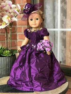 The Lady 18 inch doll gown