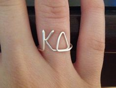 Sorority Wire Ring Kappa Delta KD Greek Letters Fraternity FREE SHIPPING. $12.00, via Etsy.