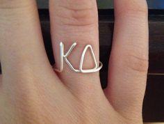 Sorority Wire Ring Kappa Delta KD Greek Letters Fraternity FREE SHIPPING. $12.00, via Etsy.