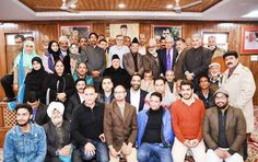 NC and Congress leaders after a joint meeting in Srinagar.
