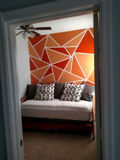 Triangle wall, paint, geometric