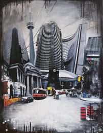 Toronto by Denise Buisman Pilger Art Competitions, Online Collections, Toronto, Art Gallery, Street View, Fine Art, Pillows, World, Places