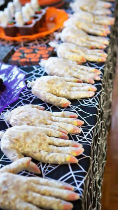 treats at a Halloween birthday party! See more party planning ideas at C. Spooky treats at a Halloween birthday party! See more party planning ideas at C. Spooky treats at a Halloween birthday party! See more party planning ideas at C. Comida De Halloween Ideas, Soirée Halloween, Healthy Halloween Snacks, Adornos Halloween, Halloween Party Snacks, Diy Halloween Decorations, Holidays Halloween, Halloween Birthday Food, Halloween Food Ideas For Kids