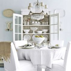Thinking of doing an all white table and chair covers for my dining room table