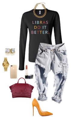 Libras Date Nights by birthdaygirlworld on Polyvore featuring Christian Louboutin, Versus, Club Manhattan and Christian Dior