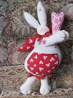 Куклы Тильды ручной работы. Ярмарка Мастеров - ручная работа Влюбленный кролик. Handmade.