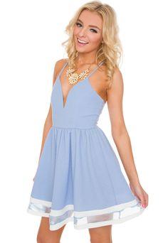Modern Day Cinderella Dress in Periwinkle
