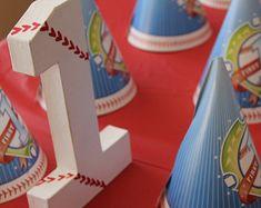 baseball birthday party cake topper
