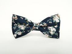 Men's Floral Navy Bowtie Bow Tie floral Pre-Tied Bowtie Gift Wedding Navy Bowtie…
