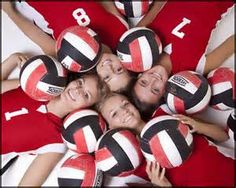 cute idea for volleyball pictures with(next year) my grade friends and i Volleyball Team Pictures, Volleyball Poses, Basketball Senior Pictures, Coaching Volleyball, Sports Pictures, Soccer Poses, Softball Photos, Volleyball Gifts, Girls Basketball