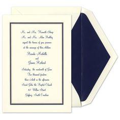 Midnight Border Invitations - Birchcraft (#103740) | FineStationery.com