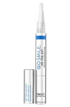 Free shipping and returns on GO SMiLE® 'On the Go®' Teeth Whitening Pen at Nordstrom.com. Don't let dull and dingy teeth hold you back from smiling. People avoid whitening their teeth for three main reasons: cost, time and sensitivity. Thanks to GO SMiLE® and the new On the Go® Teeth Whitening Pen, these are no longer an issue. This cost-efficient, easy product has now made it possible for everyone to achieve a bright smile anytime, anywhere.<br><br>The On the Go® Teeth Whitening Pen ...