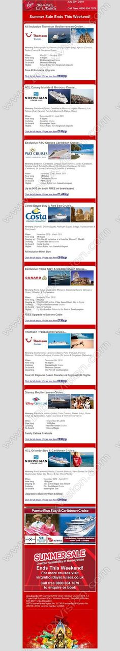 Company:  Virgin Holidays Cruises   Subject:  Red Hot Cruise Deals from GBP699 - Summer SaleEnds This Weekend             INBOXVISION providing email design ideas and email marketing intelligence.    www.inboxvision.com/blog/  #EmailMarketing #DigitalMarketing #EmailDesign #EmailTemplate #InboxVision #Emailideas #NewsletterIdeas