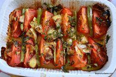 Supă cremă de roșii coapte cu crutoane cu parmezan sau de post | Savori Urbane Ratatouille, Vegetable Pizza, Parmezan, Zucchini, Vegetables, Ethnic Recipes, Food, Celery, Essen
