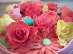 fondant bloemen taart