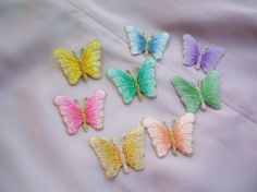 Cloth patchwork  beautiful butterfly shape fabric by Rosewhisper, $1.00