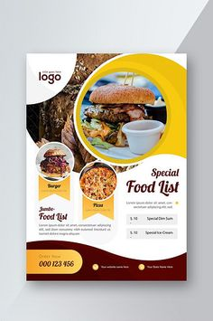 Restaurant Food Flyer#pikbest#templates Poster Design Layout, Graphic Design Brochure, Food Graphic Design, Food Menu Design, Food Poster Design, Graphic Design Posters, Poster Designs, Restaurant Flyer, Restaurant Recipes