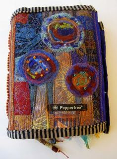Ro Bruhn - fabric journal cover - this journal was featured in Cloth Paper Scissors - July 2011