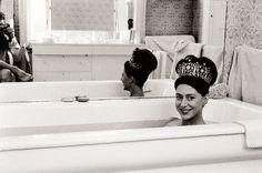 Princess Margaret - tiaras in the tub
