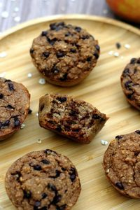 Oatmeal and chocolate muffins (no added sugar) - Amandine Cooking - recette - Healthy Recipes Easy Healthy Cupcake Recipes, Healthy Cupcakes, Healthy Muffins, Healthy Sweets, Easy Healthy Recipes, Cookie Recipes, Vegan Recipes, Healthy Food, Muffin Recipes