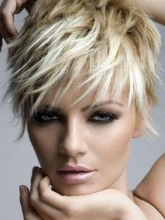 """Choppy layers when styled spiky or tousled will add edgy and ultra hot twist to your image."""