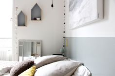 Peindre une tête de lit avec une belle couleur de peinture
