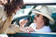 (l to r) Jared Leto as Rayon and Matthew McConaughey as Ron Woodroof in Jean-Marc Vallée's fact-based drama, DALLAS BUYERS CLUB, a Focus Features release. Photo Credit: Anne Marie Fox / Focus Features