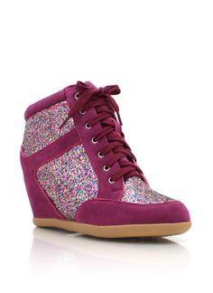 glitter sneaker wedges  #fashion #sneakerwedge #shoes